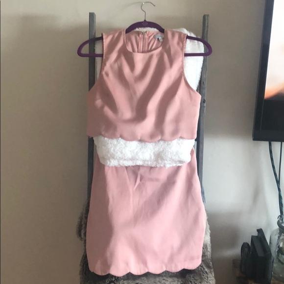 Tobi Dresses & Skirts - Tobi Two Piece Scalloped Crop Top & skirt